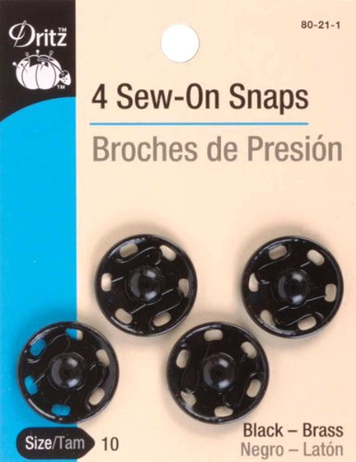Dritz(R) Sew-On Snaps - Black