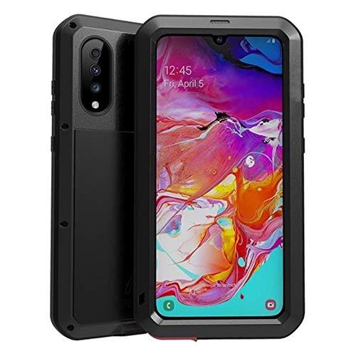LBWNB Carcasa de telefono Caso Protector de Cuerpo Completo de Gorrila Glass Fit For Samsung Galaxy A70 A50 A70S Caja A50S Tapa de Metal de Aluminio a Prueba de Golpes