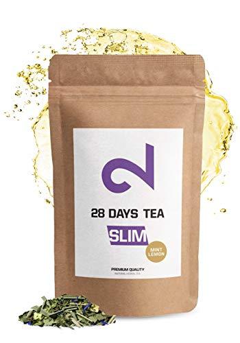 DUAL Te Adelgazante Slim Mint Lemon | 100% natural | 60 g de te de hojas sueltas | Sabor a eucalipto y menta | Sin aditivos y azucar | Rico en Vitaminas | Vegano | Certificado en laboratorio