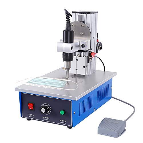 Saldatrice a punti ad ultrasuoni, saldatrice a punti 1200W / 1800W Attrezzatura per saldatura per tessuto non tessuto monouso Nylon termoplastico, φ9mm 400-600 pezzi/h