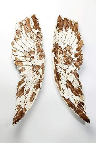 KARE Design Wandschmuck 'Antique Wings', 105 x 66 x 5 cm, gold/weiß