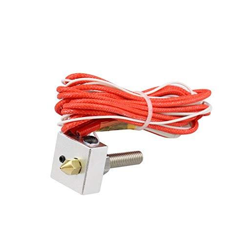 Mechatronics-Pro Hot End MK8 - Kit de extrusor (40 mm, 0,4 mm, 1,75 mm, boquilla A6, A8, impresora 3D, 12 V, 40 W)
