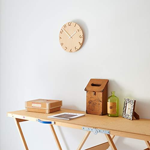 レムノス掛け時計カーヴドウッドバーチアナログ天然木色CARVEDWOODBIRCHNTL16-05Lemnos直径30.5×奥行4.2cm