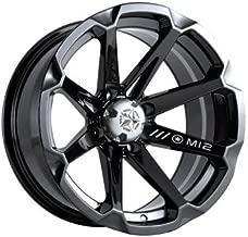 4/156 Motosport Alloys M12 Diesel Wheel 15x7 4.0 + 3.0 Black for Polaris RANGER RZR XP 1000 HIGH LIFTER Edit. 2015-2018