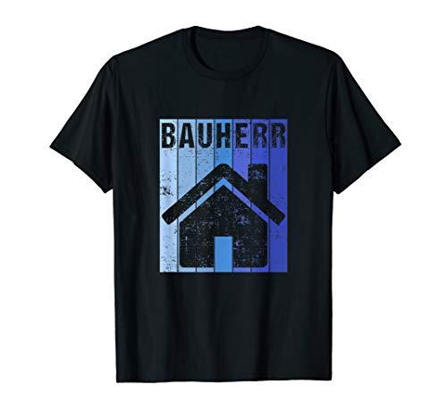 Herren Bauherren Baustelle Hausbau Fertighaus Geschenkidee T-Shirt