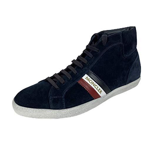 Moncler C53 Sneaker Uomo Montecarlo Blue Suede Shoe Man [44]