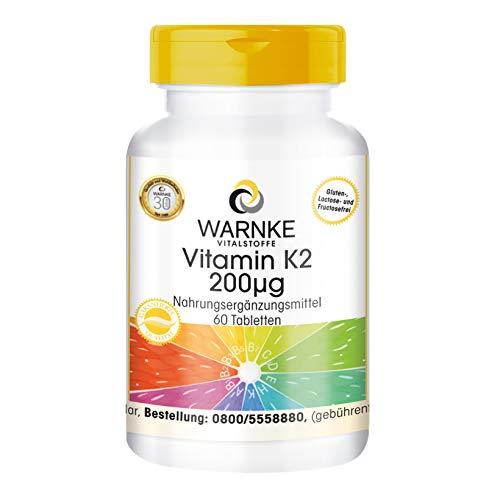 Vitamin K2 200μg - natürliches Menaquinon MK-7 - hochdosiert & vegan - 60 Tabletten
