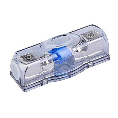 Audio Sicherungshalter, Car Audio 24V / 60A Leistungsverstärker Sicherungshalter mit transparenter Abdeckung