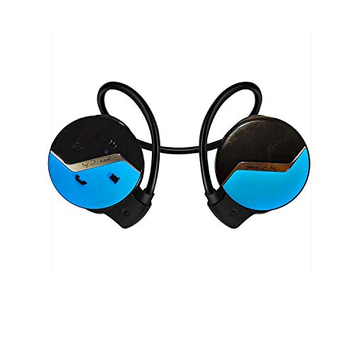 I-Kool Sport-101 Bluetooth Headphones Bluetooth Headsets Compact Wireless Sport Headphone for Running Compatible with iPhone, iPad, Samsung, Other Bluetooth Devices (Blue)