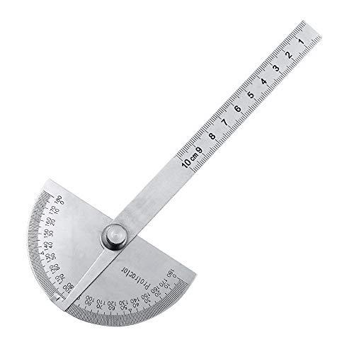 IKAAR Winkelmesser Metall Winkel Verstellbar in Zentimeter 180 Grad Winkel Messen Gradmesser Winkelsucher mit 100mm Messgerät Lineal Universal Winkel Lineal für Heimwerker Studenten Maler