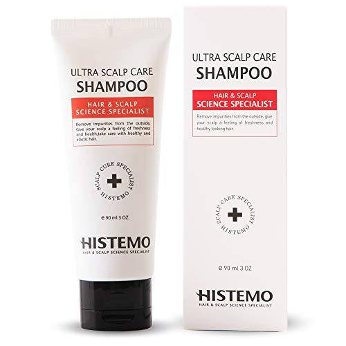 Ultra Scalp Care Shampoo | DHT Blocking Hair Restoration Shampoo | Promotes Hair Growth with Biotin | Thinning Hair, Prevent Hair Loss | for Men and Women with Oily Scalp, Colored Treated Hair | Reduce Itchy Scalp, Dandruff by Histemo (3 oz - 1 month