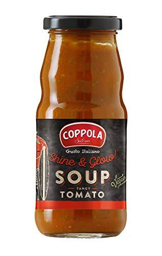 Coppola Shine & Glow! Vellutata di Pomodoro, Basilico e Olio d'Oliva – Senza Zuccheri Aggiunti 350g (Confezione da 6)