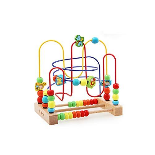 MONODY Circuits de Motricité Cube Activite pour Bébé Animal Jouet Perle Cube en Bois Enfant Perle Labyrinthe pour Enfants 3 Ans et Plus (Insecte)