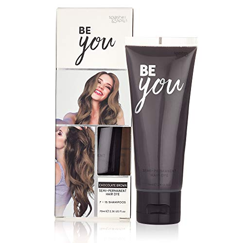 Semi-Permanent Chocolate Brown Hair Dye - Vibrant 2.36 Oz. Tubes Temporary Hair Color - Ammonia and Peroxide Free -Vegan and 100% Cruelty-Free Toner - Lasts for 7-15 Shampoos - by Splashes and Spills