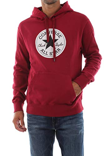 Converse 10018633 Fleece Hood Sweater Herren Brick S