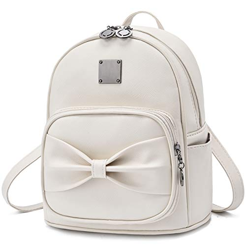 Teen Girls Mini Backpack Purse Bowknot Cute Small Leather Daypack