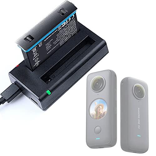 Honbobo Cargador para Insta360 One X2, X2 Cámara Doble Cargador de batería Accesorios