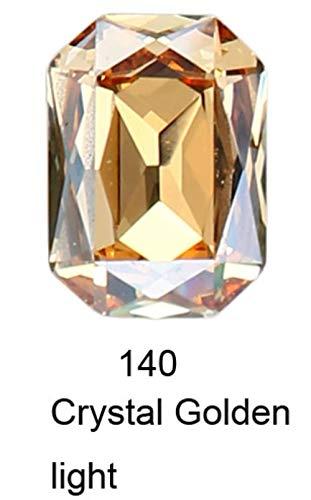 K9 Cristal Rectangle Octagon strass Strass pour vêtements nail art Strass couture Pointback Verre Bling Fantaisie cristal, 140,10 14mm12pcs