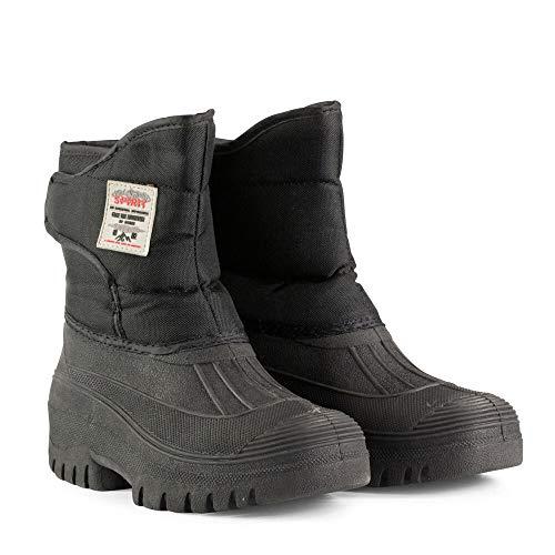 horze Winter Stallstiefel Pro Stallarbeiten und vielseitig im Alltag bei kaltem Wetter einsetzbar, Oxford Nylon und Gummi, Schwarz, 45