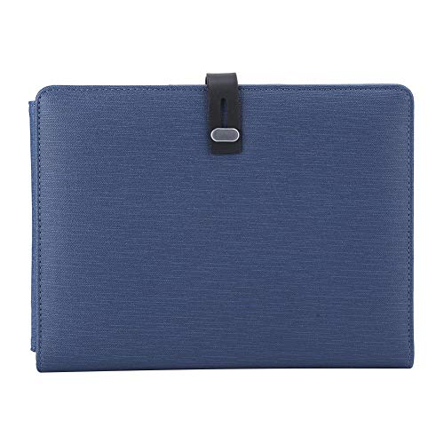 Draadloze draadloze oplader, blauwe Power Bank Charger Notebook 5000mAh leer gemaakt