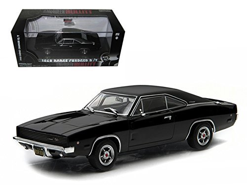 Greenlight 1/43 Scale 86432 - 1968 Dodge Charger Bullitt - Black/Black Tyres