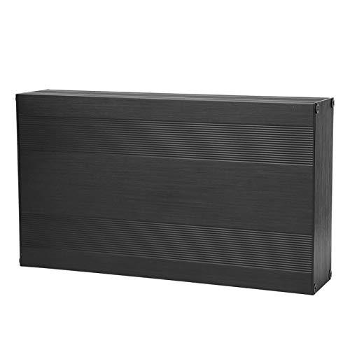 Jeanoko Caja de Conexiones Impermeable 54x145x250 Recinto del Proyecto Caja Negra del Proyecto Caja de Aluminio Caja de refrigeración Carcasa de disipación de Calor para Controlador