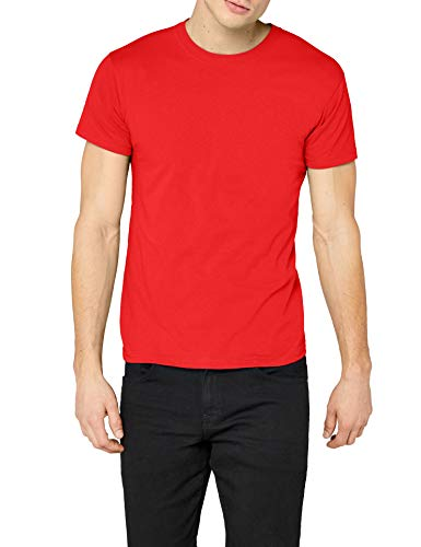 Fruit of the Loom SS022M T-Shirt, Rouge, XL Femme