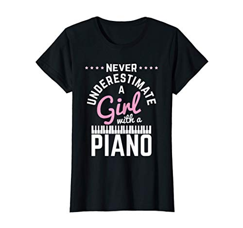 Girl With Piano Klavier Pianistin Klavierspieler Piano T-Shirt