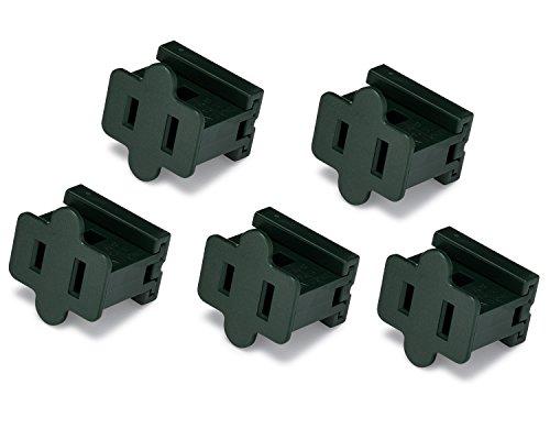 Holiday Lighting Outlet Female Green Slip Plug, Zip Plug, Vampire Plug, Gilbert Plug, Slide Plug (5, SPT-1)
