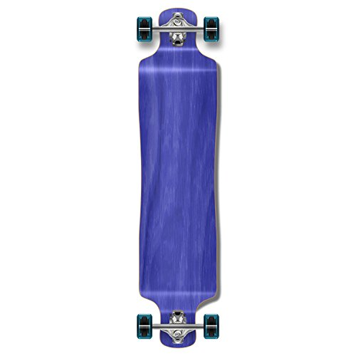 Yocaher Blank/Checker Complete Lowrider Skateboards Longboard Cruiser Black Widow Premium 80A Grip Tape Aluminum Truck ABEC7 Bearing 70mm Skateboard Wheels (Complete - Lowrider - 04 - Blue)