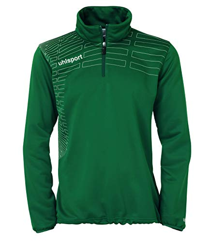 uhlsport Damen Pullover Match 1/4 Zip Top, Lagune/Weiß, S