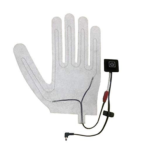 2 Stück Handschuhe Heizkissen DIY Aufladbar Kohlefaser Heizhandschuhe, 3 Stufen Einstellbare Temperatur, Waschbar Elektrische Beheizbare Handschuhe Wärmepads