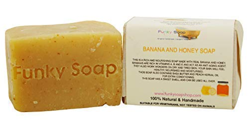 Funky Soap Bananen & Honig Seife 100% Natürlich Handgemacht, 1 bar Of 120g