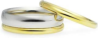 مجموعة من 3 مقاسات من 5 إلى 12 من Silverline Jewelry من الفولاذ المقاوم للصدأ قابلة للتكديس خواتم خواتم الزفاف 2 و4 مم