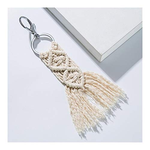 Keychains Artilady Hawaii Tassel Keychains for Women Boho Key Holder Keyring Macrame Bag Charm Jewelry Gift for Friends Drop Shipping Decorations (Color : 06)