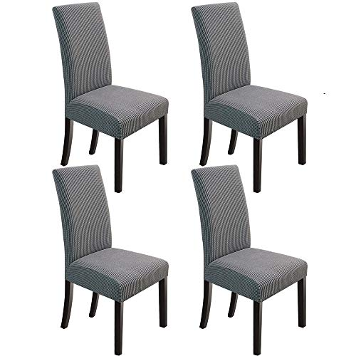 Northern Brothers Dining Chair Covers Stretch Chair Covers Parsons Chair Slipcover Chair Covers For Dining Room Set Of 4 Light Grey Buy Online In Aruba At Aruba Desertcart Com Productid 164062133