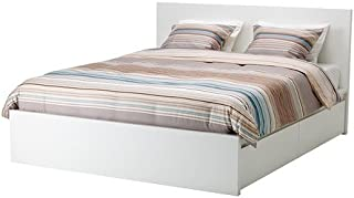 Ikea Full Size High bed frame/2 storage boxes, white, Luröy , 2386.231729.1814