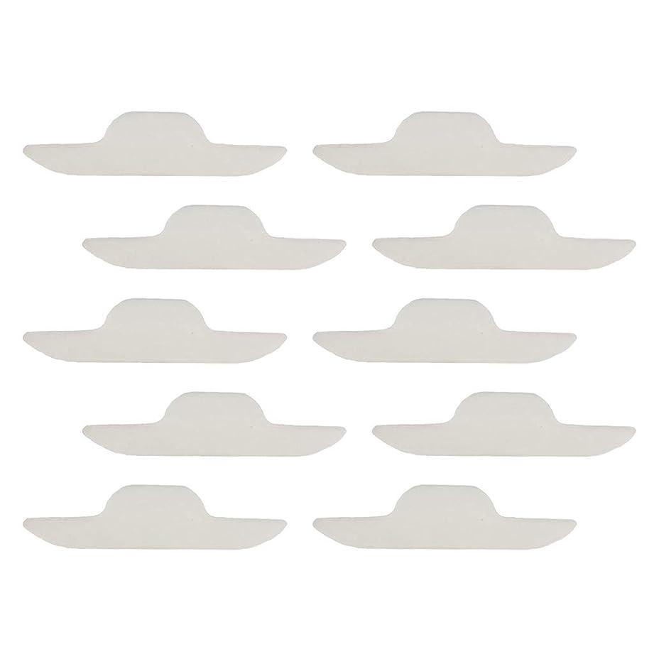Perfeclan 汗取りパッド ネックスウェットパッド 自己粘着パッド 使い捨て 汗汚れに対策 男女兼用 10個入