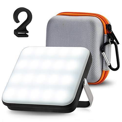 LED Campinglampe, Eventek Power Bank Wiederaufladbare Arbeitsleuchte, mit 5 Lichtmodi, Akku Lampe für den Notfall, für Zelt, Camping, Hurrikan, Wandern, Notfall, Ausfall (10000mAh)