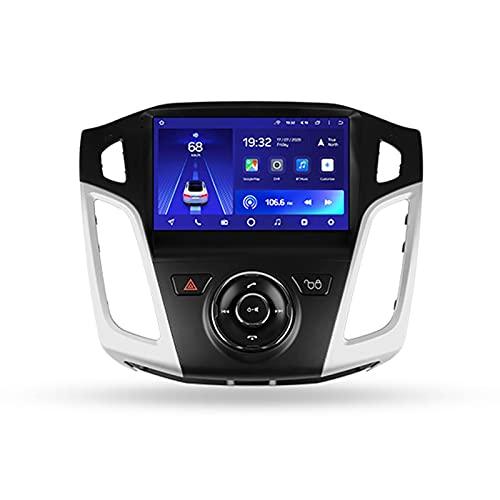 Android 10 Estéreo Automóvil GPS Car Radio Para Ford Focus 3 2011-2019,Con Pantalla De 9'' Enlace Espejo Mandos De Volante Cámara Trasera 5GWIFI 3D Dinámica De Conducción En Tiempo Real,Cc2l,1+16G