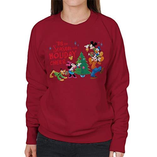 Disney Christmas Mickey Mouse Season for Holiday Cheer Women's Sweatshirt