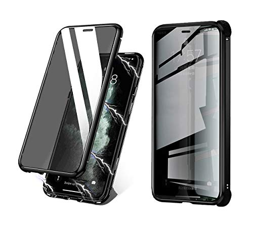 BVCY Magnetic Adsorption Case for iPhone Xs Max with Built-in Anti-Spy Privacy Screen Protector Anti-Peeping Case (Black)