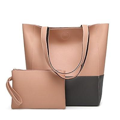 Oangel PU cuir sac à main + seau sac épaule de sac de femmes de la mode +porte-monnaie + carte 2pcs mis