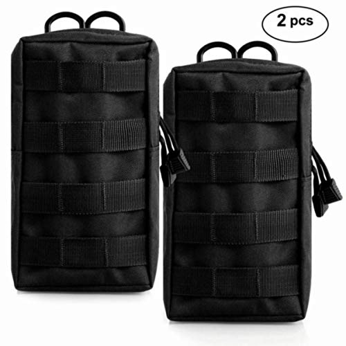 Owlike Molle Pouches Tactical Molle Attachments EDC Pouch, 2 Pack Tactical Pouch for Waist Vest Backpack Water Bottle Bag , Water-resistant