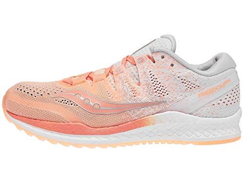 Saucony Freedom ISO 2, Zapatillas de Running Mujer, Naranja Blanco, 38 EU