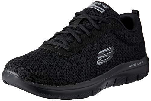 Skechers Sneaker Herren Flex Advantage 2.0 DAYSHOW 52125 BBK Black Schwarz, Schuhgröße:42