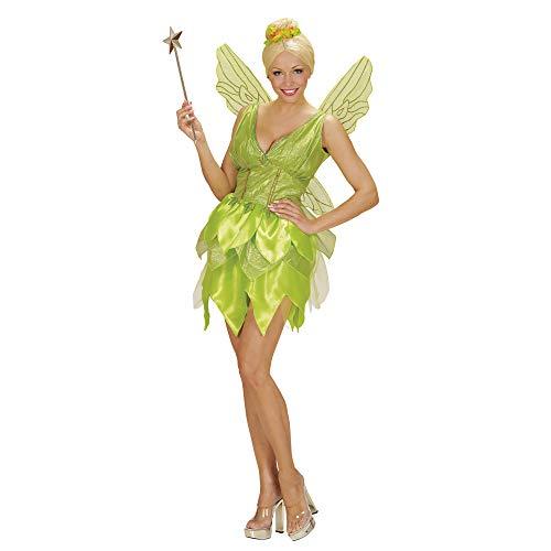 Widmann 02291 - Erwachsenen Kostüm Fantasy Fairy Kleid, Flügel, Größe S, hellgrün