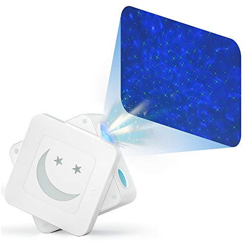 Pailun Star Projector Night Light, Green Starry Laser and Colorful Ocean Wave Projection Lamp with Voice Control, Adjustable Speed/Brightness Sky Projector for Party, Game Room, Home Theatre