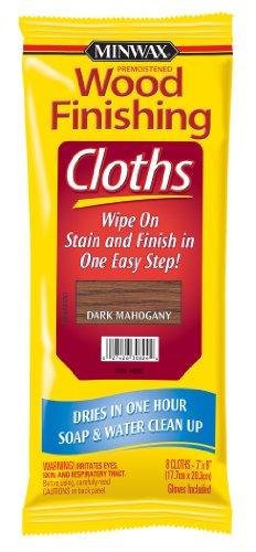 Minwax 308240000 Wood Finishing Cloths, Dark Mahogany, 8 Piece