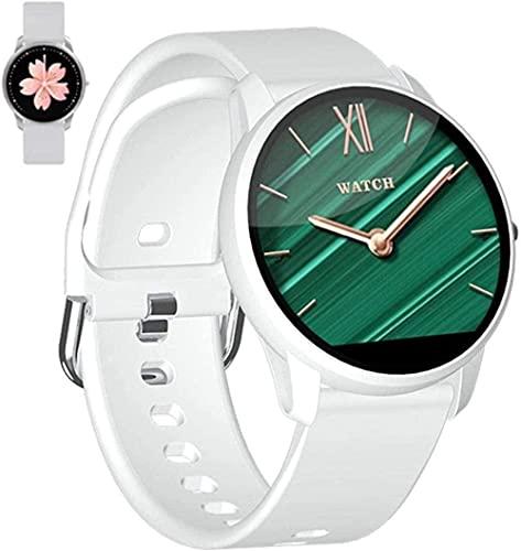 wyingj Reloj inteligente de 1.08 pulgadas – Reloj de pantalla táctil reloj deportivo fitness actividad Tracker Monitores Bluetooth vida impermeable para mujeres negro-blanco
